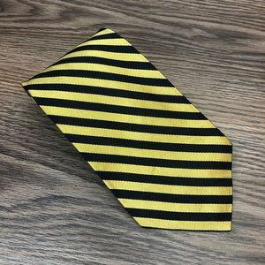 Robert Talbott Gold & Navy Stripe Tie